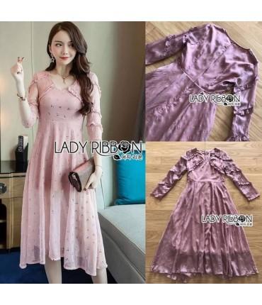 The Getaway Lavender Midi Dress