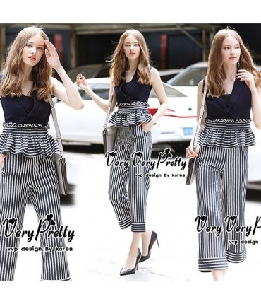 Oh So Classy Striped Co- Ord Set