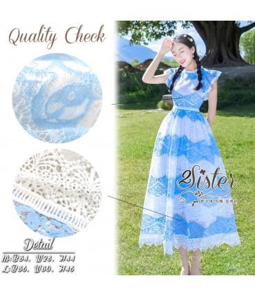 Feel the Sky Lace Maxi Dress