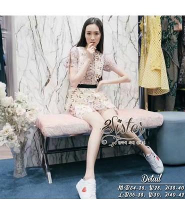 Dress2Impress Peach Crochet Dress