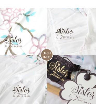 White Floral Print Midi Dress