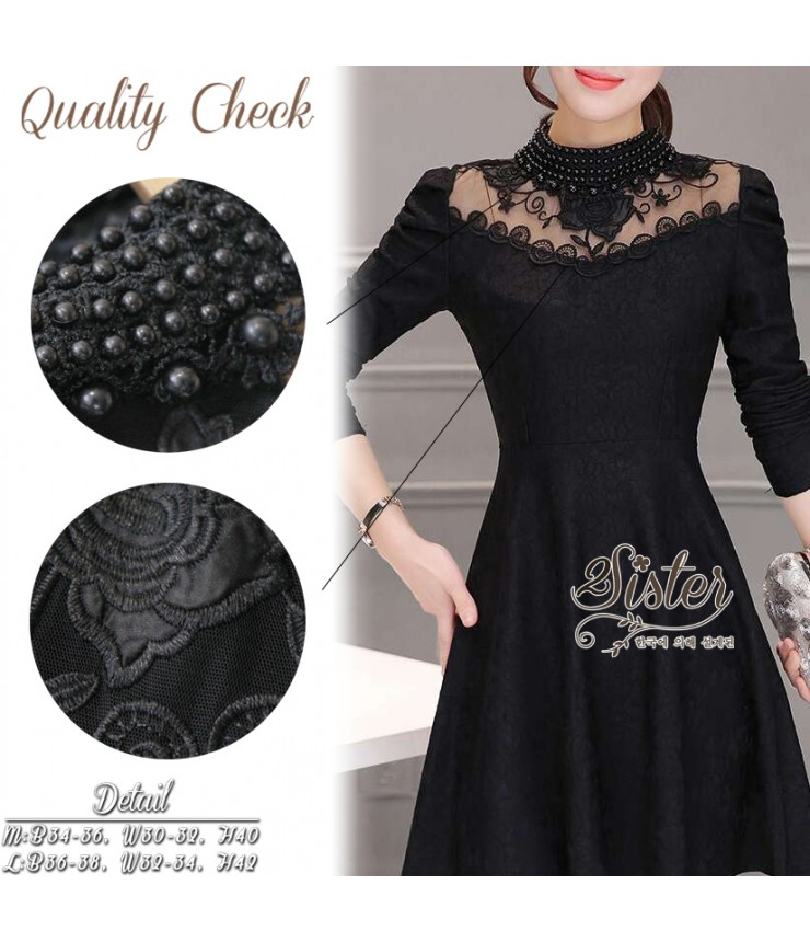 Little Black Pearl-beaded Dress