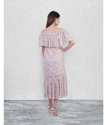 The Lucky Off Shoulder Maxi Dress