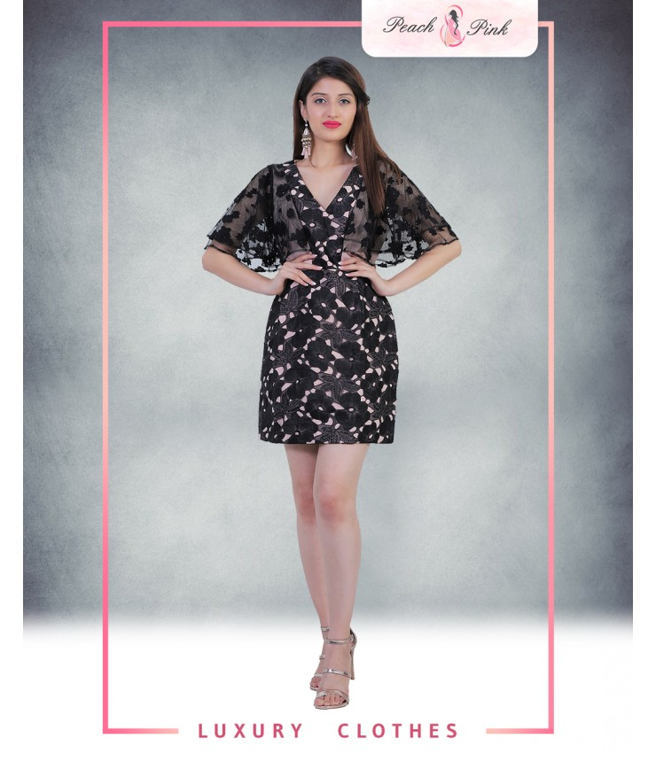 The Delightful Lace Mini Dress