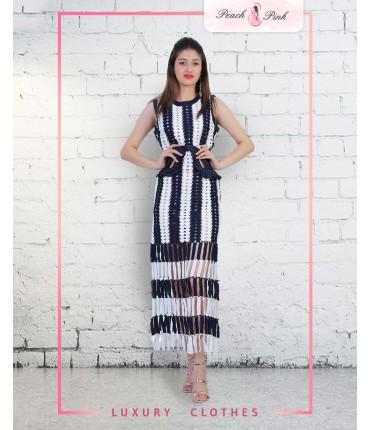 Bohemian Fringe Maxi Dress