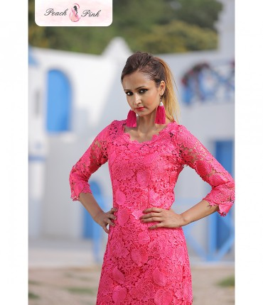 Not your basic Pink Lace Dress