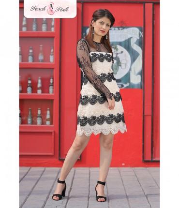 Starry affair Dual toned Illusion Dress