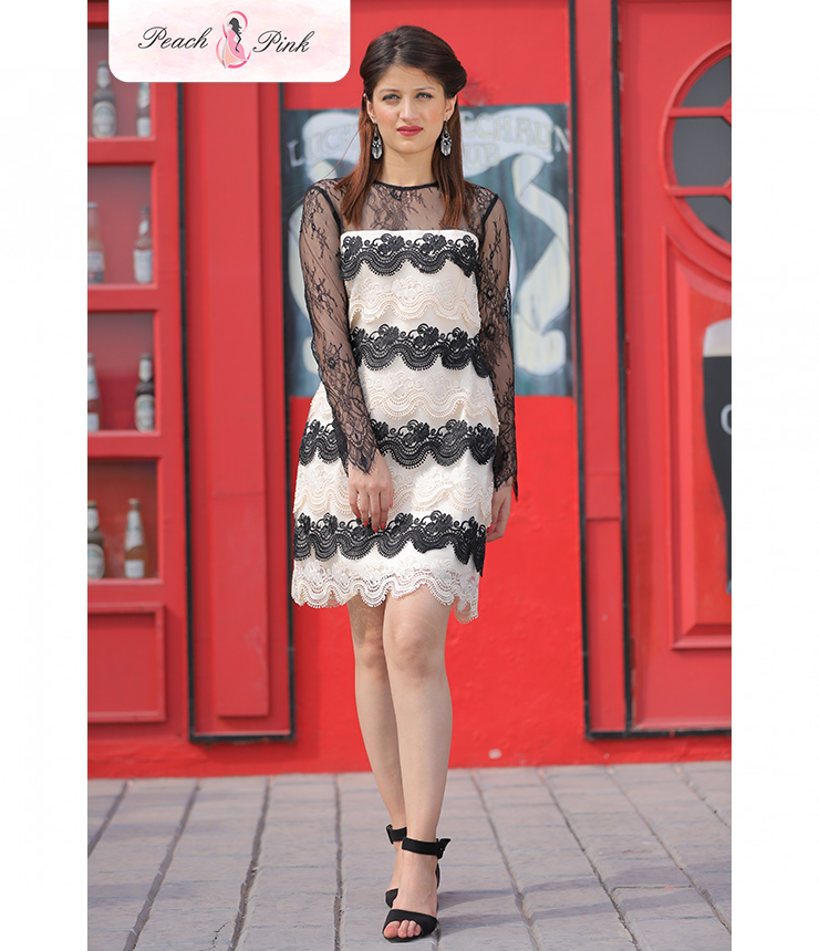 Starry affair Dual toned Illusion Dress