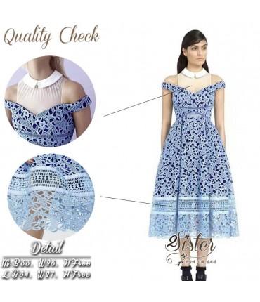 Vintage Blue & White Tuller Dress