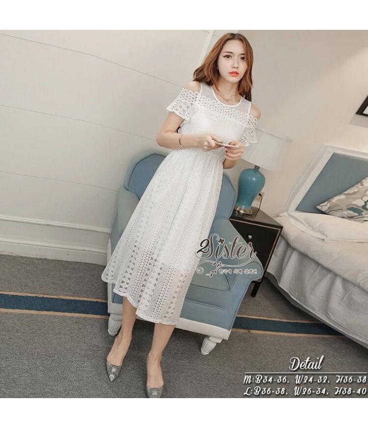 Snow White Cold Shoulder Dress