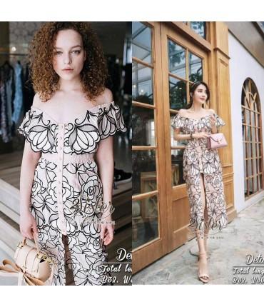 Flora Bardot Semi Shirt Dress