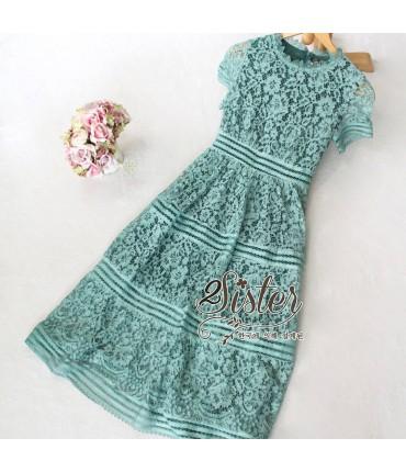 Blossom Sea Green Midi Dress