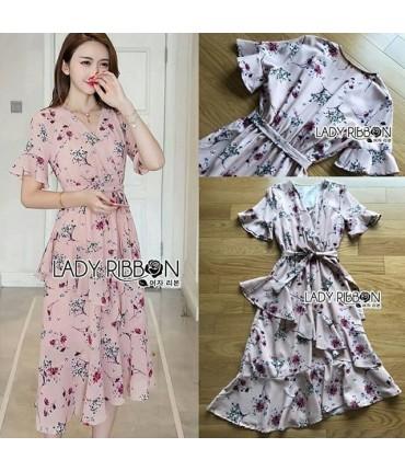 Gorgeous Printed Wrap Maxi Dress