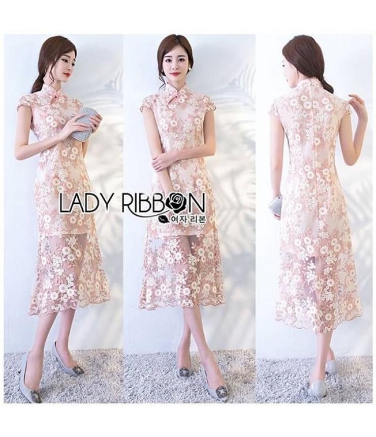 Sundown Floral Lace Midi Dress