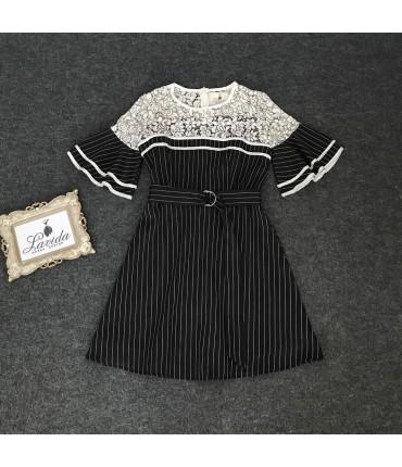 Matchpoint Stripe Skater Dress