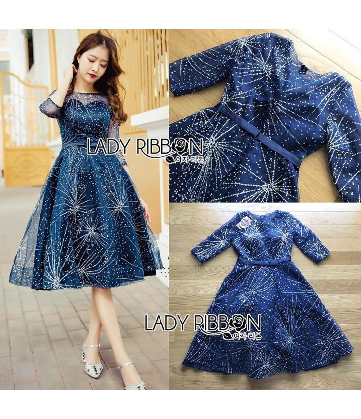Starlight Sheer Back Midi Gown
