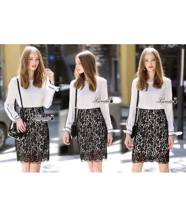 Floral Lace Skirt n Shirt Co-ord