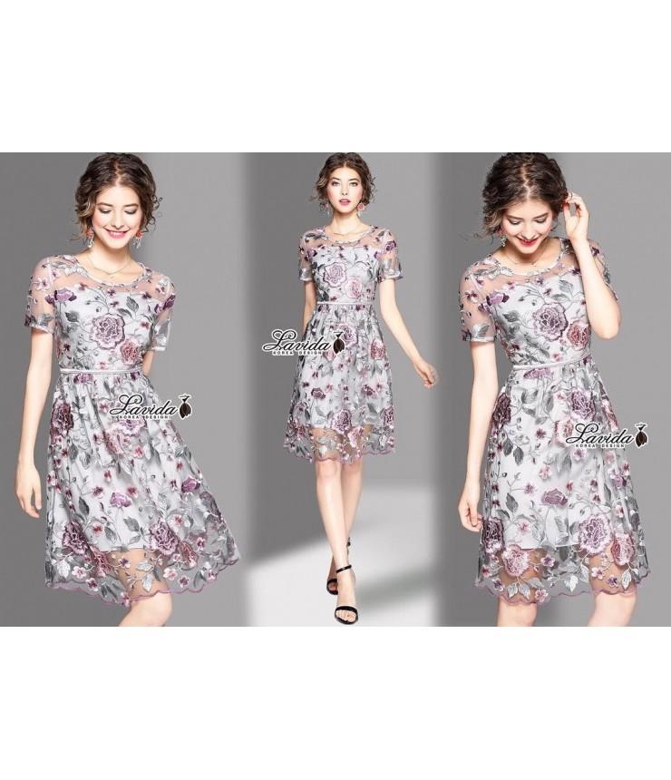 Starbright Floral Pattern Dress