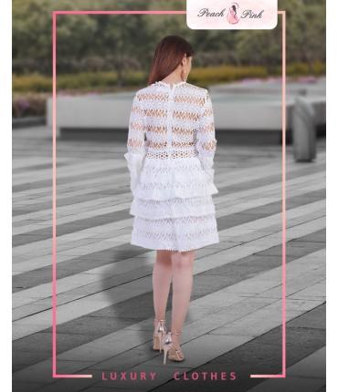Jingle Bell White Mini Dress
