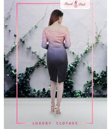 Tie Dye Off-Shoulder Dress