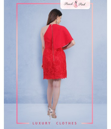 Red For The Night Off Shoulder Dress