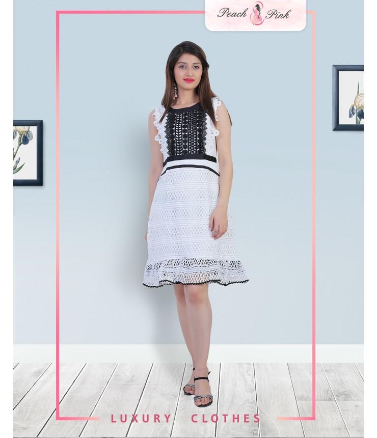Moonshiner Crochet Mini Dress