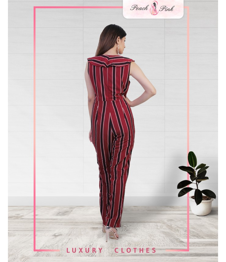 Turn up The Heat Striped Jumpsuit