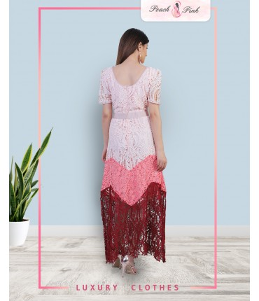 Limited Edition Contrast Lace Maxi Dress