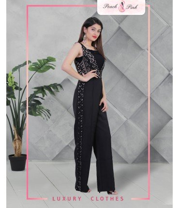 All Eyes On You Black Jumpsuit