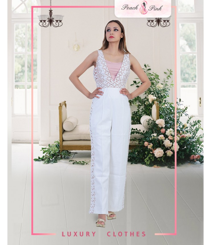Sunday Stroll White Jumpsuit