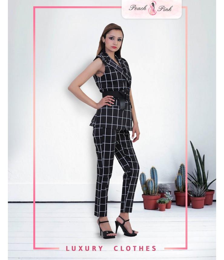 Checkmate Blazer And Pants Set