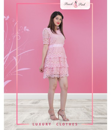 Blush Pink Mini Dress