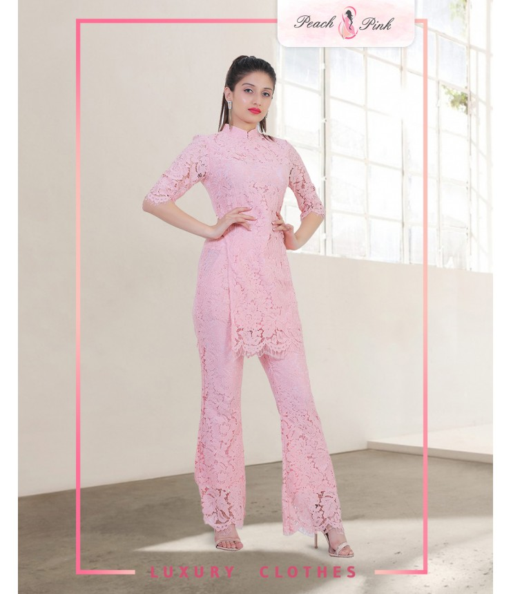 Lace And Net Co-Ords Set