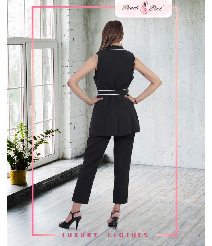 Black Water Blazer-Pant Set