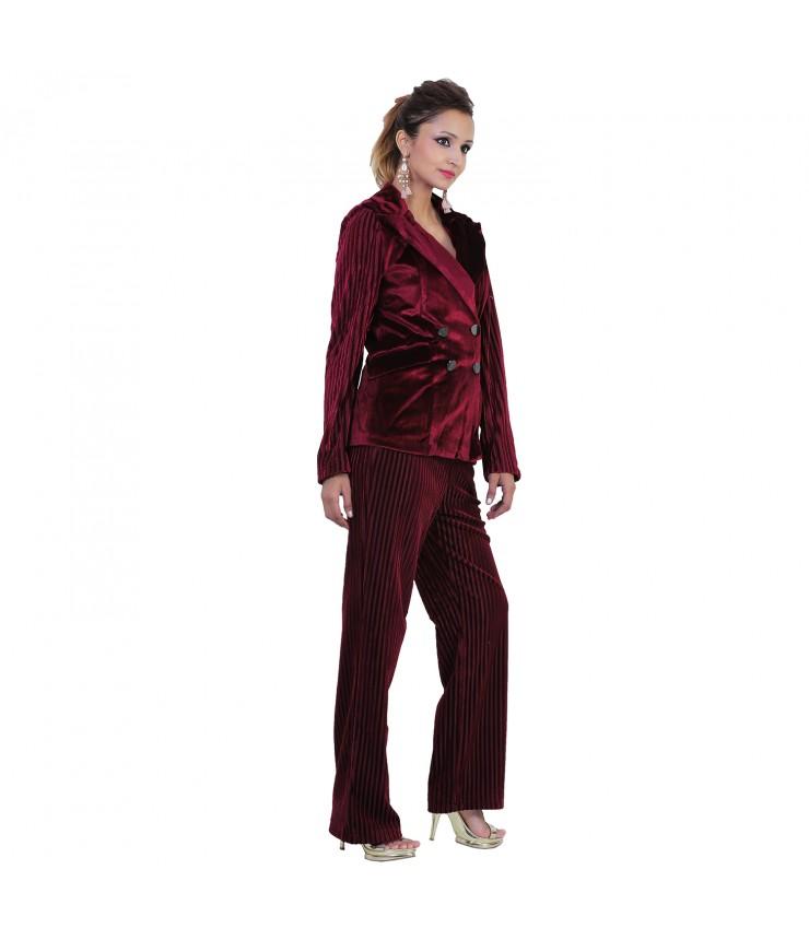Premium Velvet Blazer and Pant Set