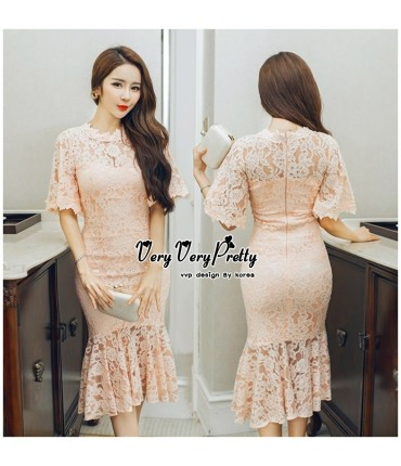 Take Me Out Pretty Peach Dress