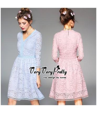 Love Triangle Floral Skater Dress