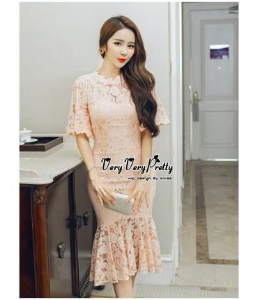 Take Me Out Pretty Peach Dress