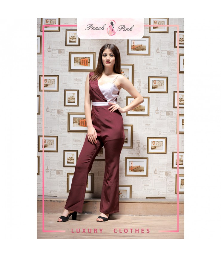 Merlot Red Planet Jumpsuit
