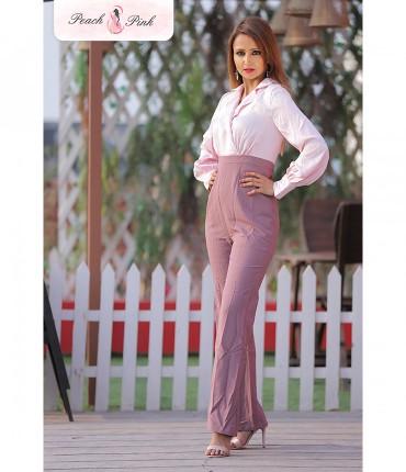 Pretty in Pink Bishop sleeve Jumpsuit
