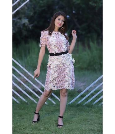 Forever floral Crochet Lace Short Dress