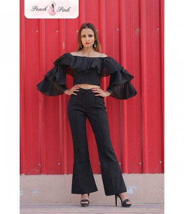 Black beauty off shoulder Coord Set