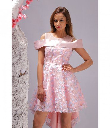 57885d360f354b Buy Stylish Off-Shoulder Dress for Girls Online in India
