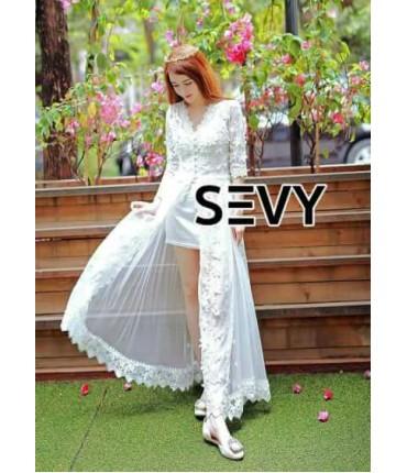 Elegant White Maxi Cape Dress