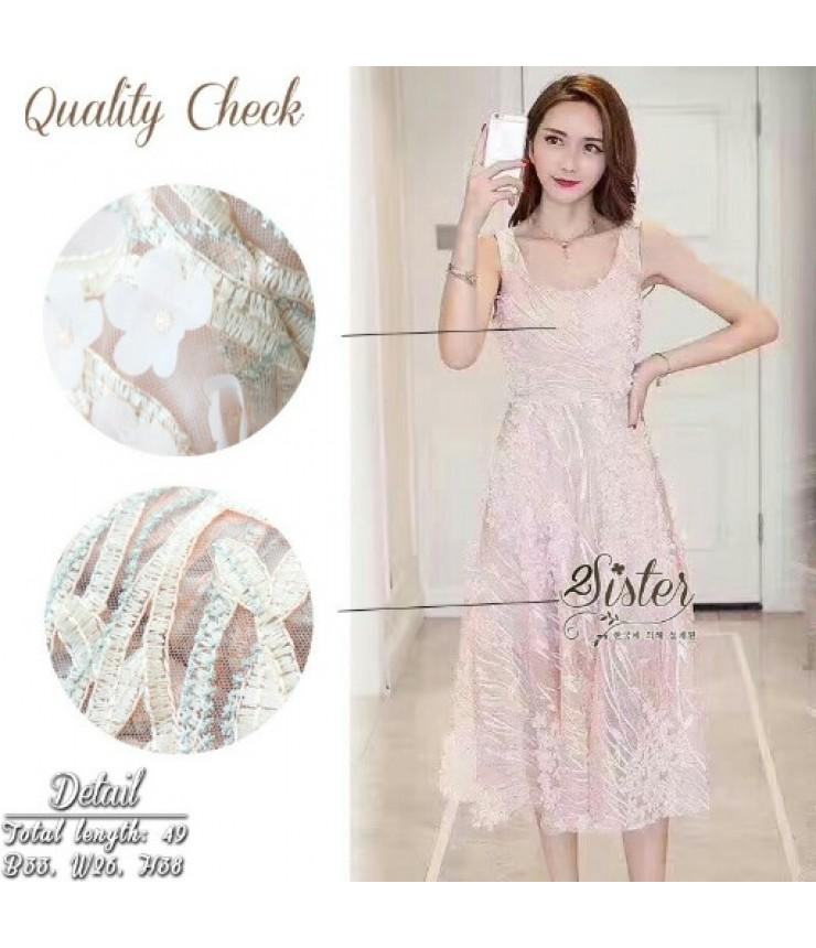 Sparkling Peach Maxi Dress