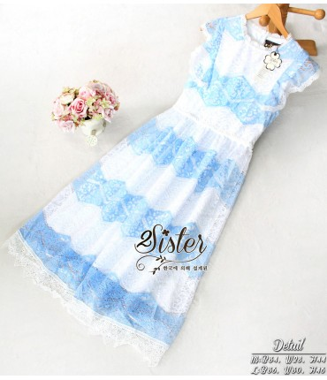 Feel the Sky Lace Maxi Dress