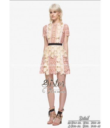 Dress2Impress Peach Crochet Dress