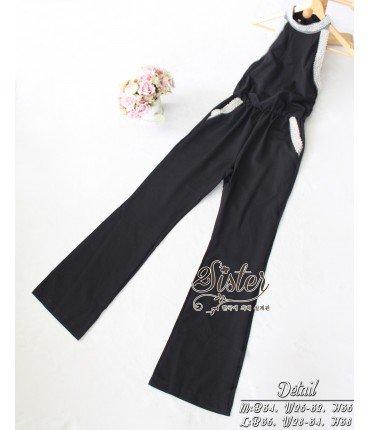 Bold Elinor Pearl Collar Jumpsuit