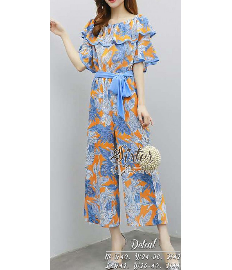 Call Me Butterfly Bardot Jumpsuit