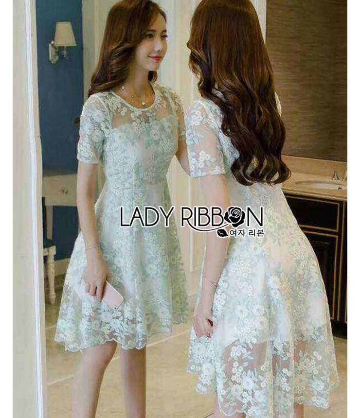 Fairy Green Low-High Midi Dress
